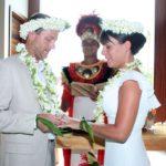 Bora Bora wedding ceremony