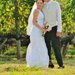 wedding in the vines
