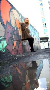 Tauranga graffiti pregnancy photo shoot